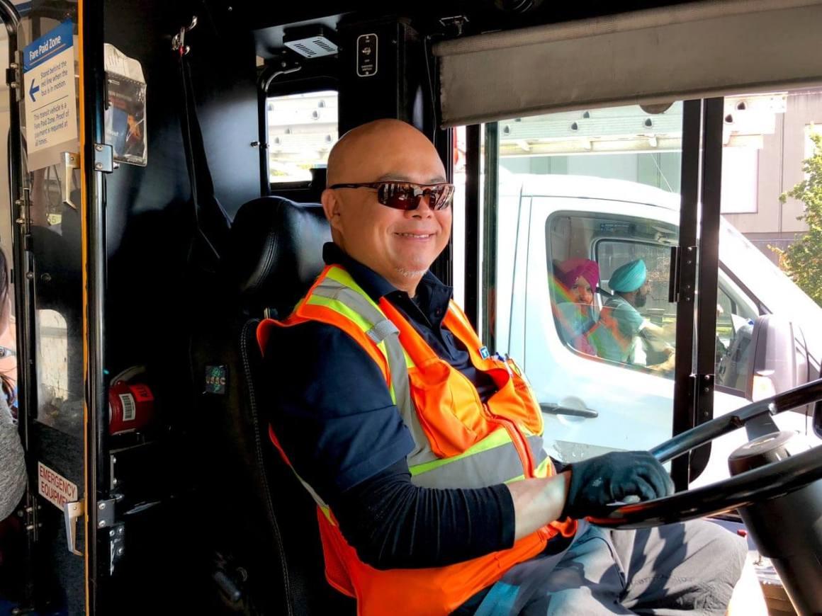 Friendly Vancouver bus driver