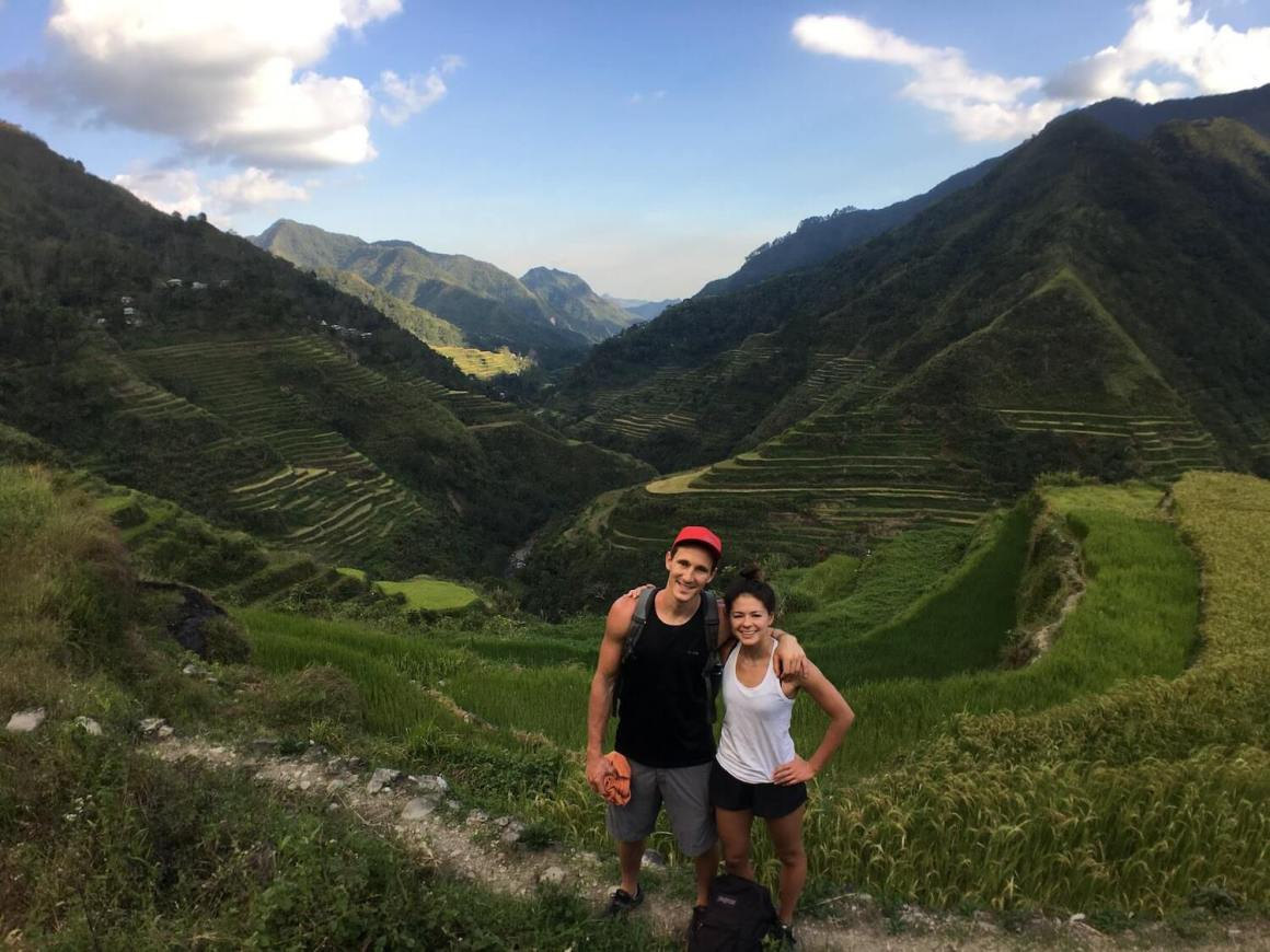 Chris and Kim at the Banaue Rice Terraces pre-The Unconventional Route