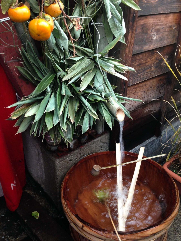 fresh spring water supplies saijo sake brewers in japan