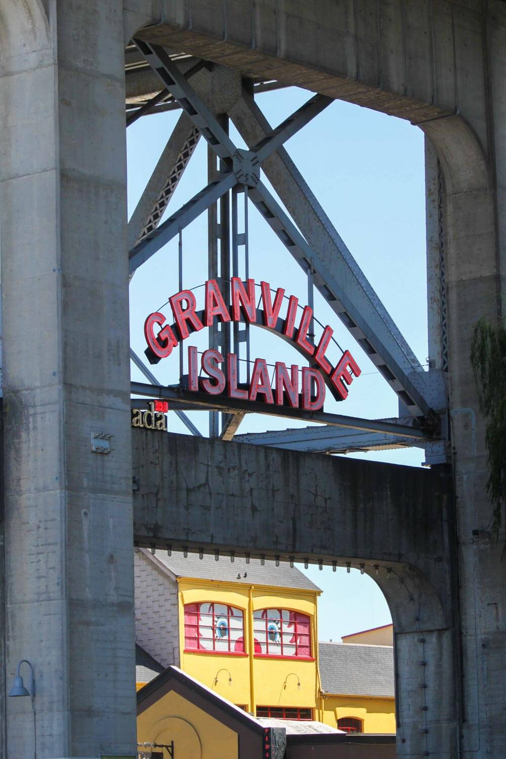 Entrance to Granville island