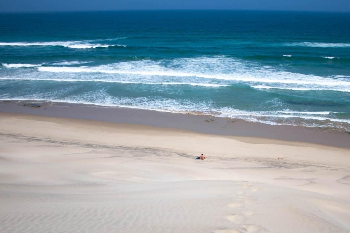 Kim on deserted Cintsa beach
