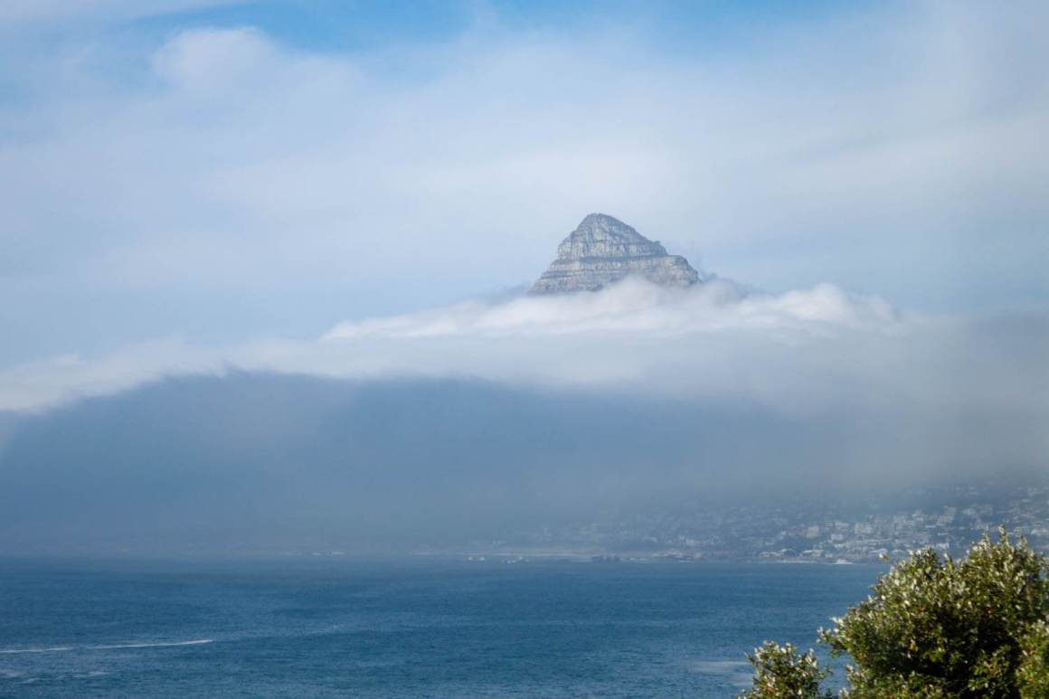 Lion's Head popping up through the clouds