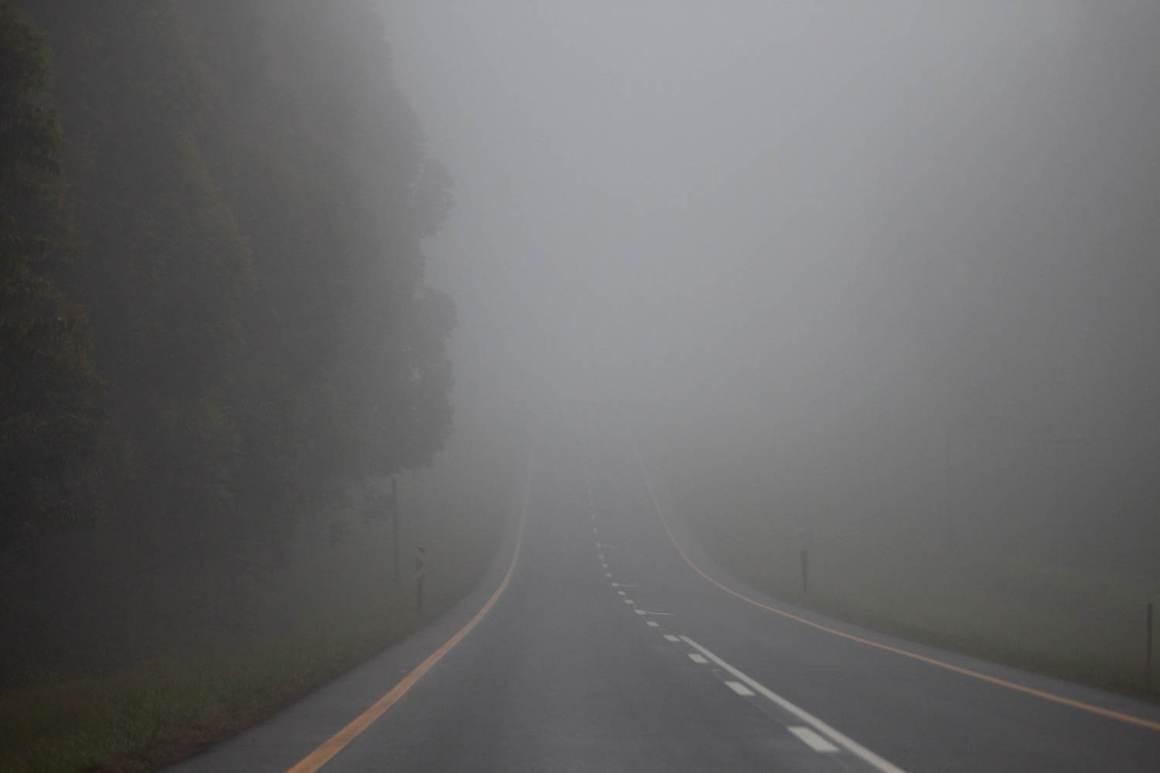 Misty road outside of Durban