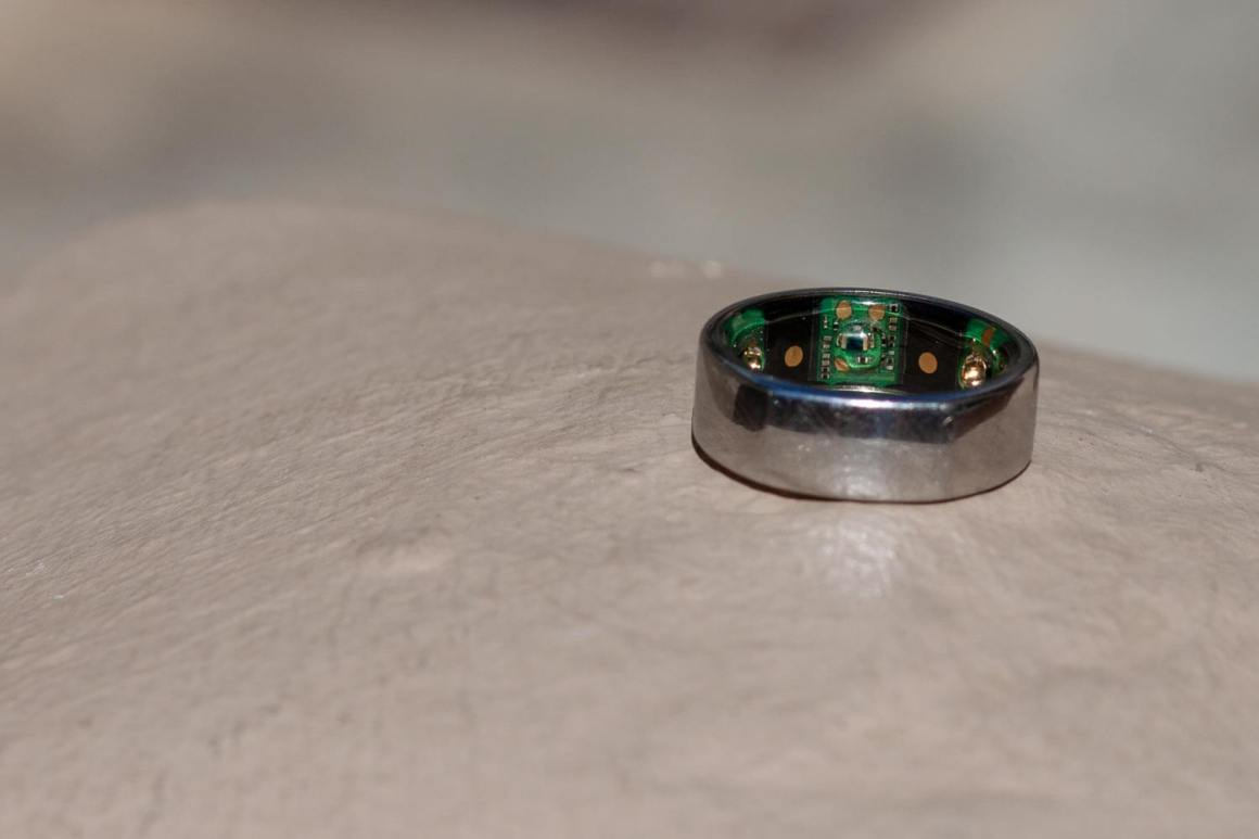 Close up of Oura ring