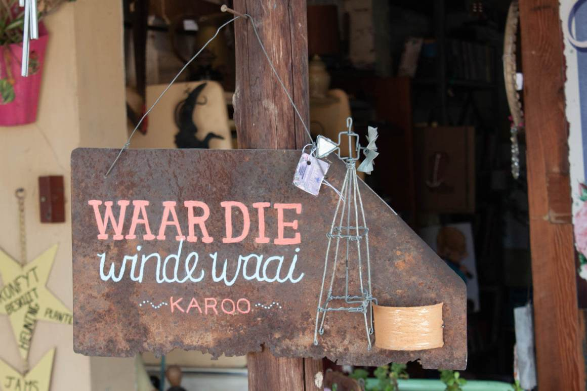 Karoo sign at shop in Willowmore
