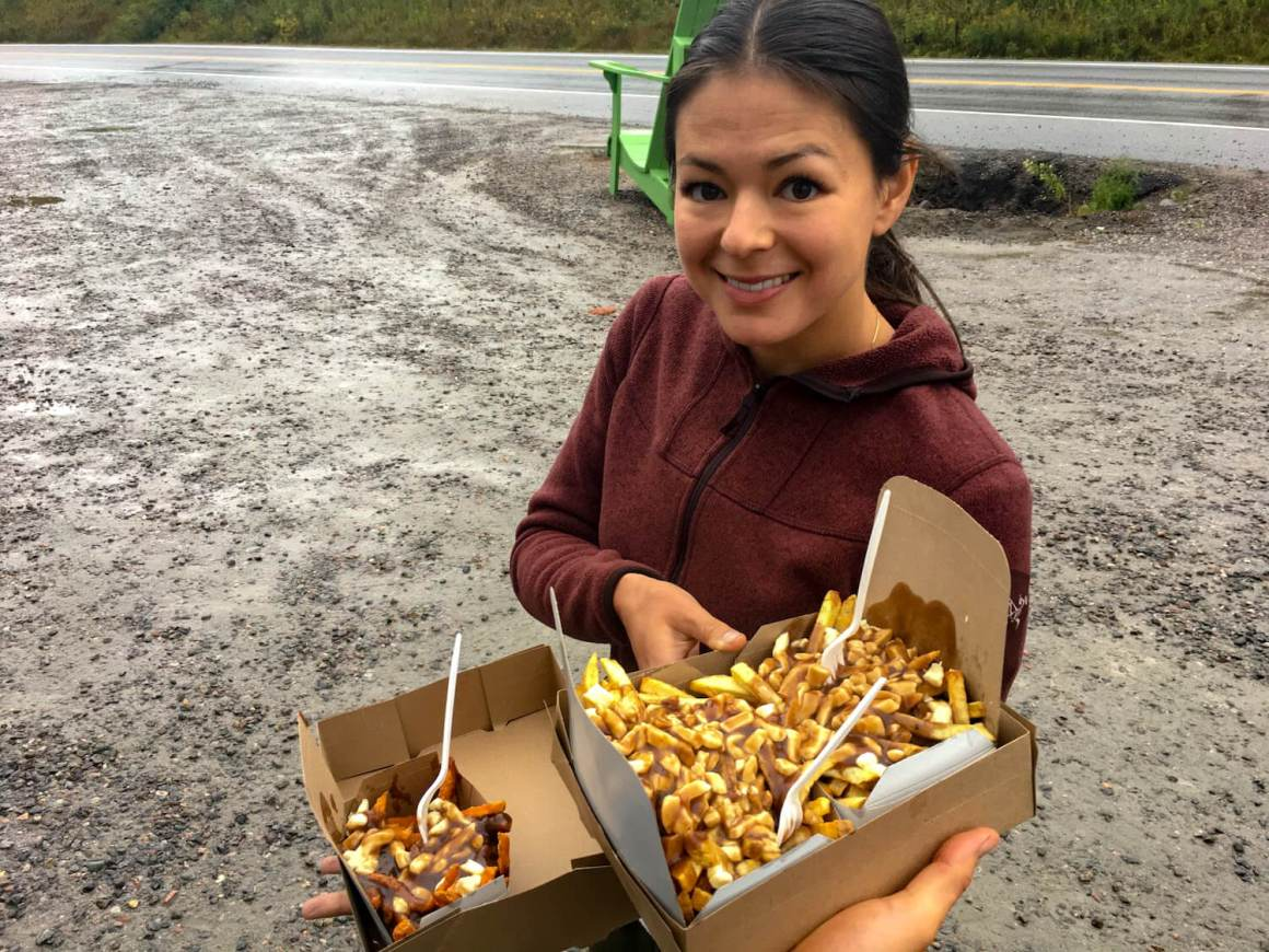 Kim showing of some truly Canadian poutine
