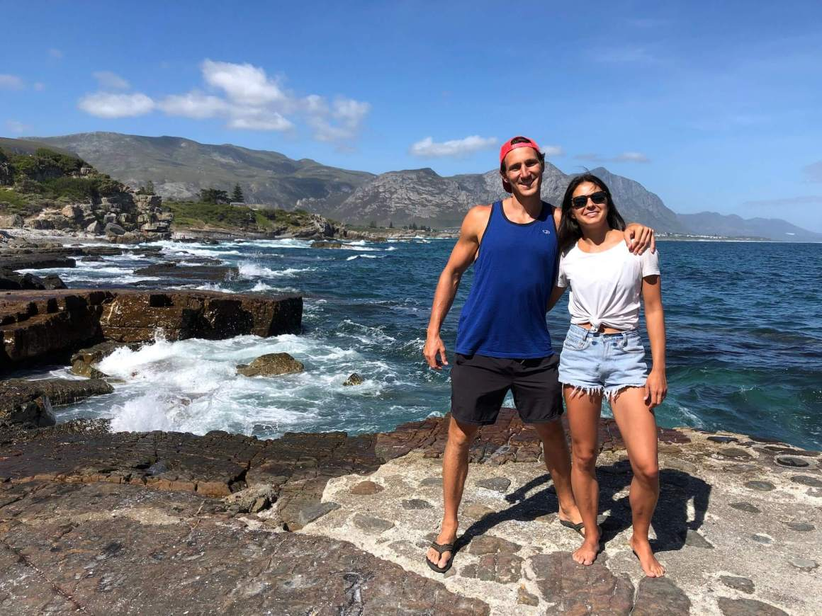 Chris and Kim in Hermanus, South Africa.