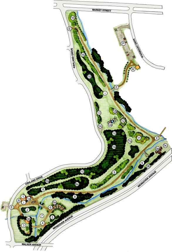 Map of Greensboro Arboretum