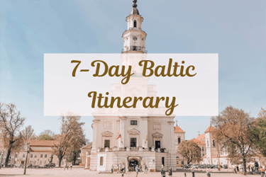 7 Day Baltic Itinerary Related Post Cover with Kaunas Town Hall
