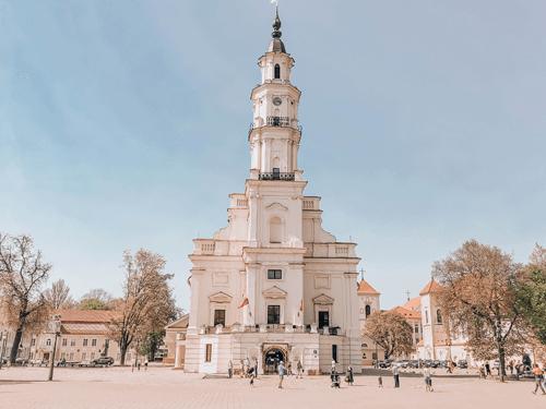 7 Day Baltics Itinerary Kaunas Town Hall Square