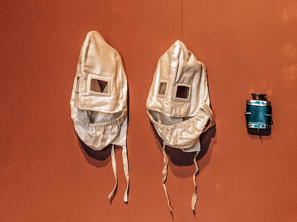 Gas masks used during the war at the Latvian National Library