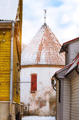 Red Tower in Parnu, Estonia