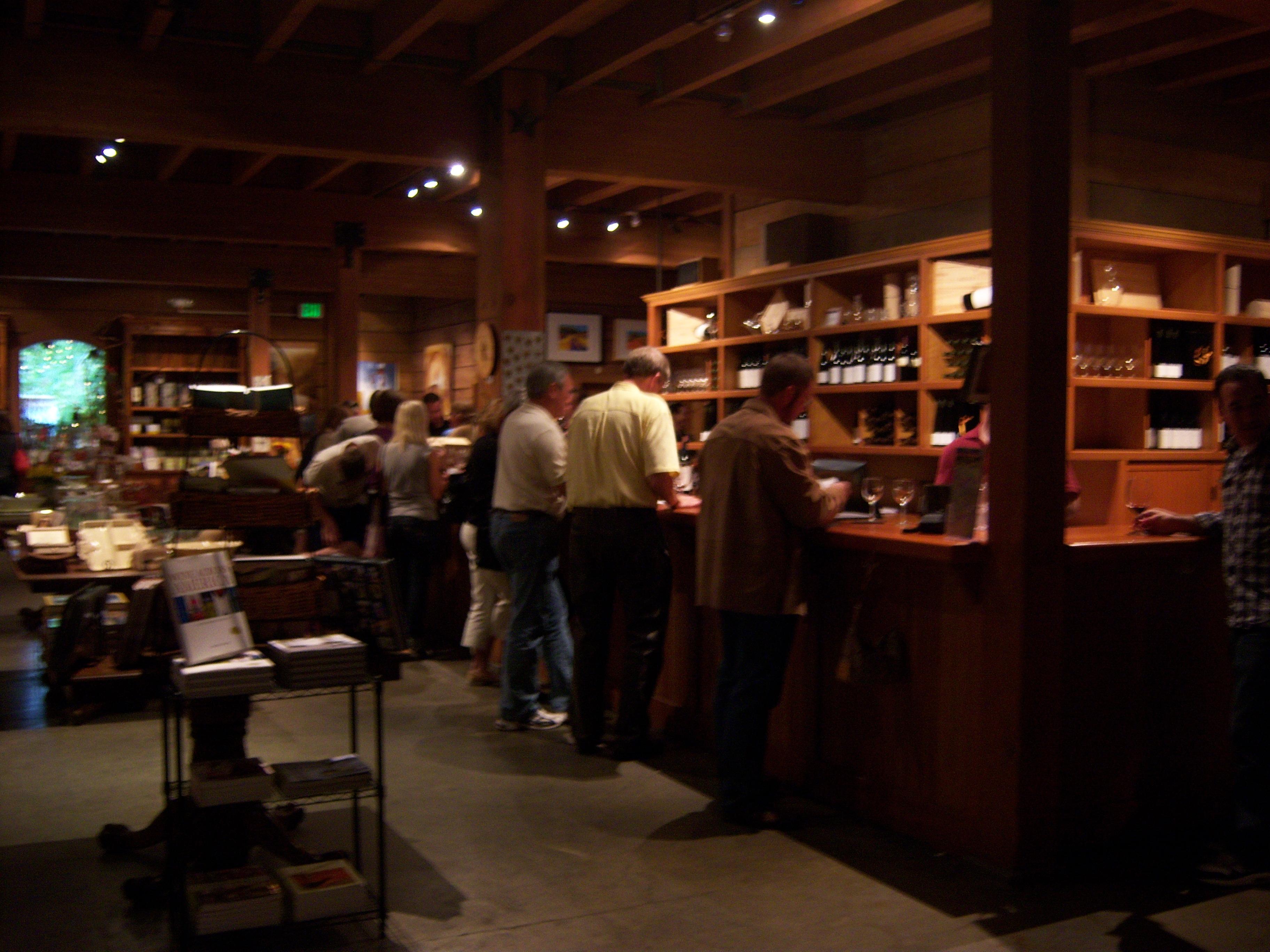 The tasting bar at Merryvale Vineyards.