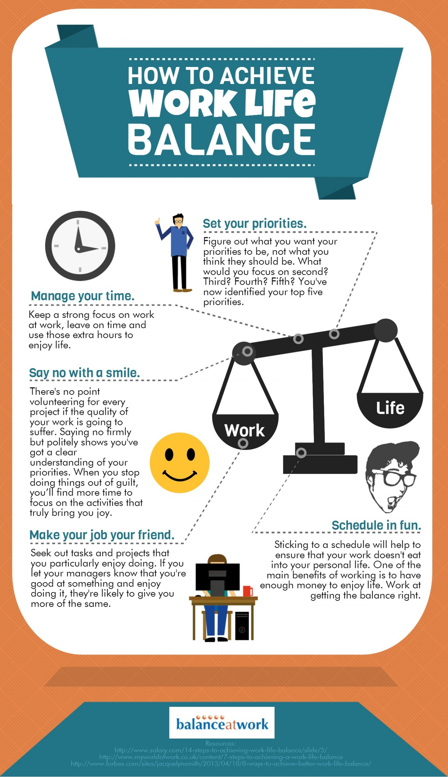 How To Get A Great Work Life Balance Infographic