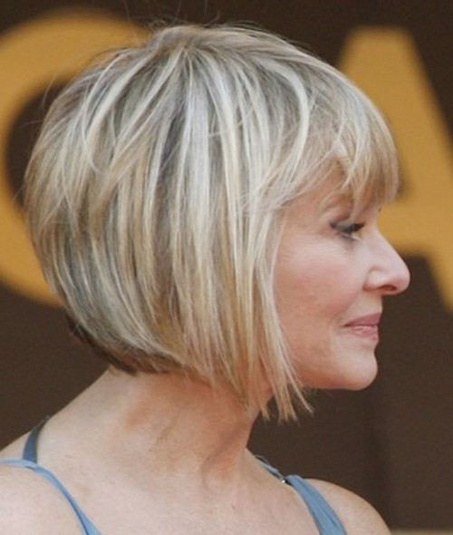 Angled-Bob-Hairstyle Gorgeous Short Hairstyles for Women over 50