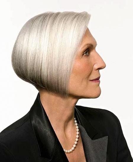 Asymmetric-Bob-Hair Short Bob Haircuts for Older Women