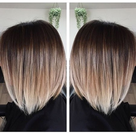 Asymmetric-Bob-Short-Hair-Color Ombre Hairstyles for Short Hair