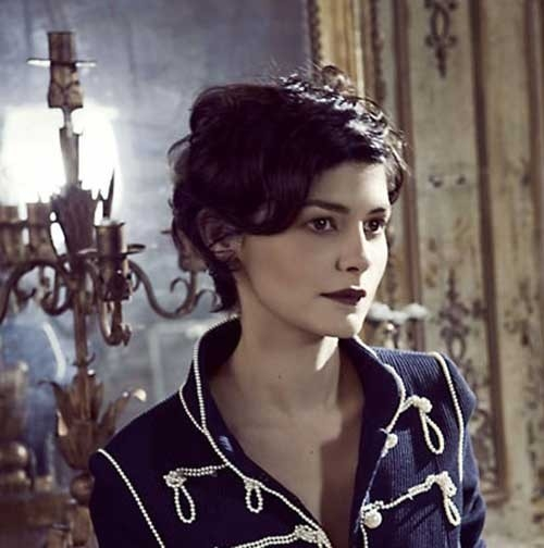 Audrey-Tautou-Long-Pixie Remarkable Pics of Trendy Short Hairstyles for Women