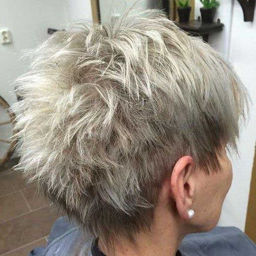 Back-View-Undercut-Pixie-Haircut Short Haircuts for Older Women 2018-2019