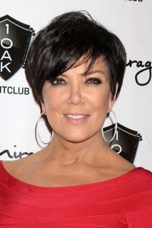 Black-Pixie-Cut Gorgeous Short Hairstyles for Women over 50