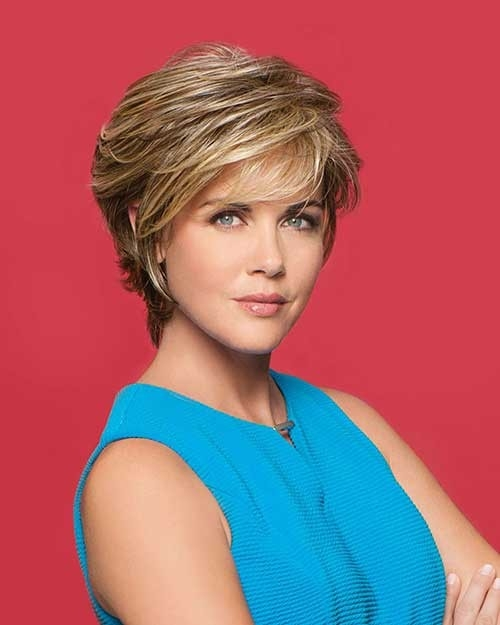 Blonde-Highlights Short Haircuts for Older Women 2018-2019