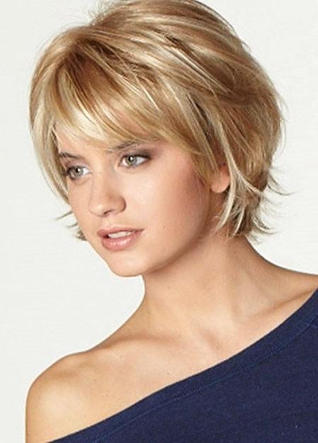 Blonde-Layered-Hair New Cute Hairstyles for Short Hair