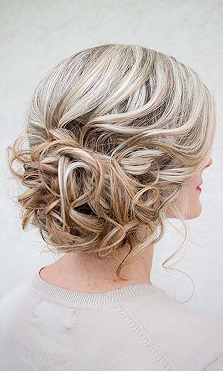Blonde-Updo-Hair Wedding Hairstyles for Short Hair