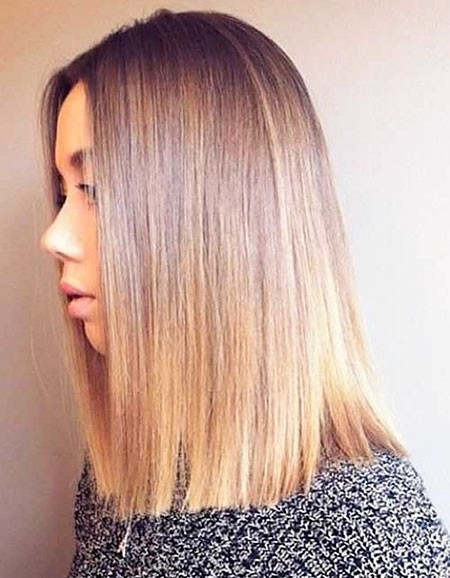 Blunt-Shoulder-Length-Hair New Short Straight Hairstyles 2018