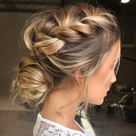 Braided-Updo-Haircut Wedding Hairstyles for Short Hair