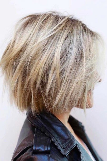 Choppy-Bob-Hair New Short Layered Hairstyles 2018