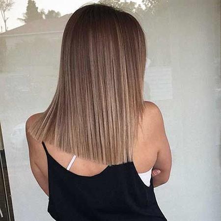 Classic-Straight-Hair New Short Straight Hairstyles 2018