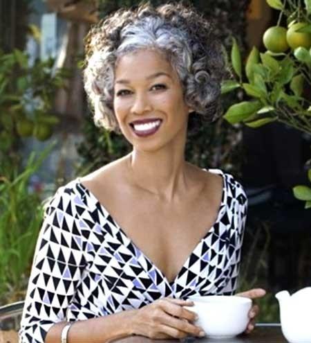 Curly-Short-Haircut-for-Older-Women Best Short Haircuts for Older Women