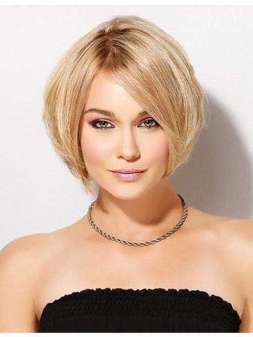 Cute-Blonde-Hair Chic Short Bob Haircuts for 2018