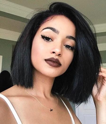 Cute-Bob-Haircut New Short Straight Hairstyles 2018