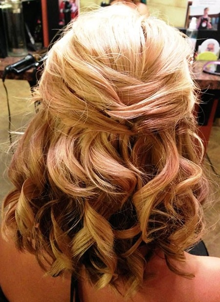 Cute-Curls Wedding Hairstyles for Short Hair