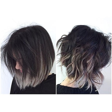 Cute-Messy-Bob-Haircut Ombre Hairstyles for Short Hair