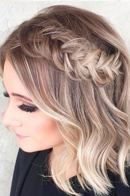 Cute-Prom-Hair-for-Braided-Hair Prom Hairstyles for Short Hair