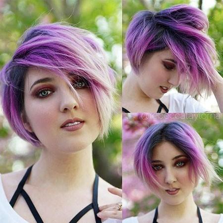 Cute-Violet-Hair New Cute Hairstyles for Short Hair