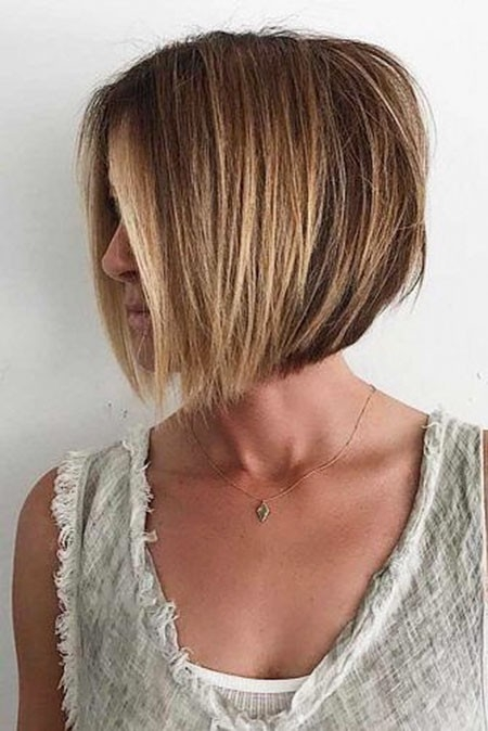 Fine-Bob-Hair New Short Layered Hairstyles 2018