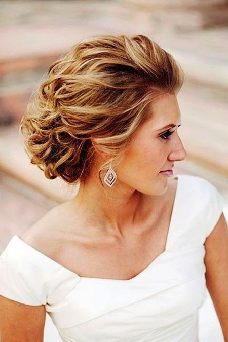 Gorgeous-Wavy-Hair Updo Hairstyles for Short Hair