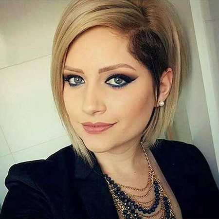 Gray-Blond-Hair-Color New Short Straight Hairstyles 2018