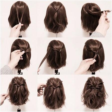 Half-Up-Hairtyle-for-Short-Hair New Cute Hairstyles for Short Hair