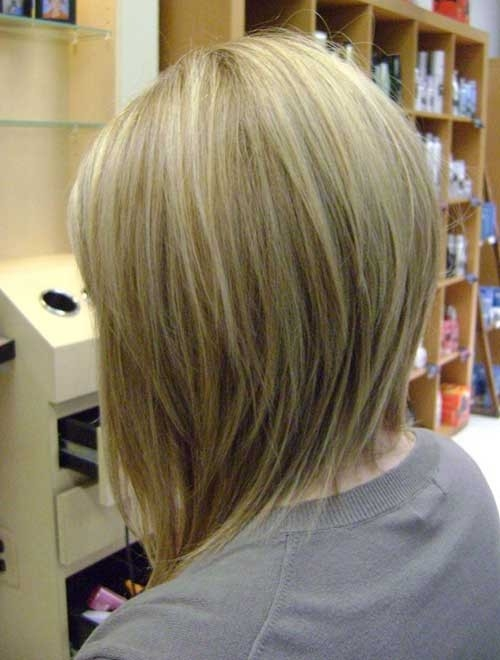 Inverted-Bob-for-Fine-Hair Splendid Layered Short Haircuts for Ladies