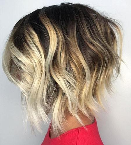 Layered-Balayage-Hairstyle New Short Layered Hairstyles 2018