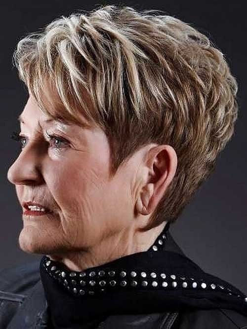 Layered-Short-Pixie-Haircut-for-Over-70 Best Short Haircuts For Women Over 70
