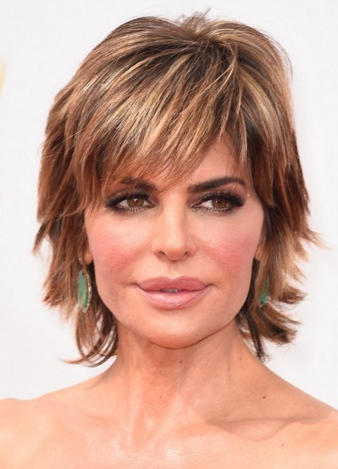 Lisa-Rinna-Short-Haircut Gorgeous Short Hairstyles for Women over 50