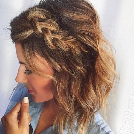 Medium-Length-Hairtyle Easy Braids for Short Hair
