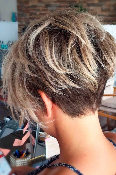Messy-Pixie-Haircut Short Trendy Hairstyles 2018