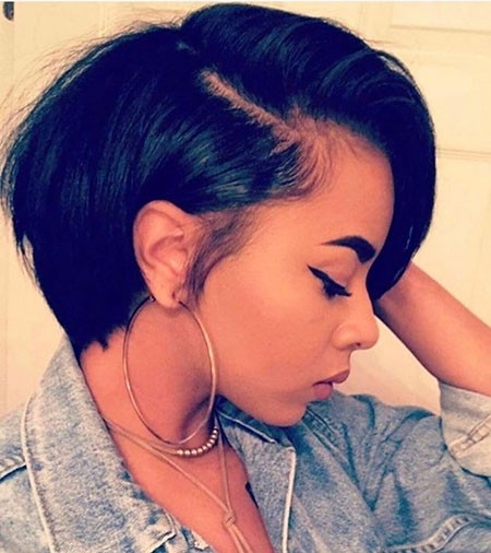 Perfect-Bob-Haircut Best Hairstyles for Black Women 2018