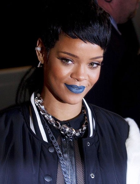 Rihanna-Cute-Hairtyle Best Rihanna Short Hairstyles